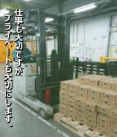 野菜・果実の入出庫作業が主の業務です。